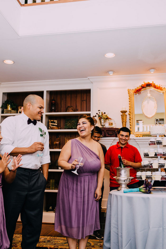 groom at recetpion