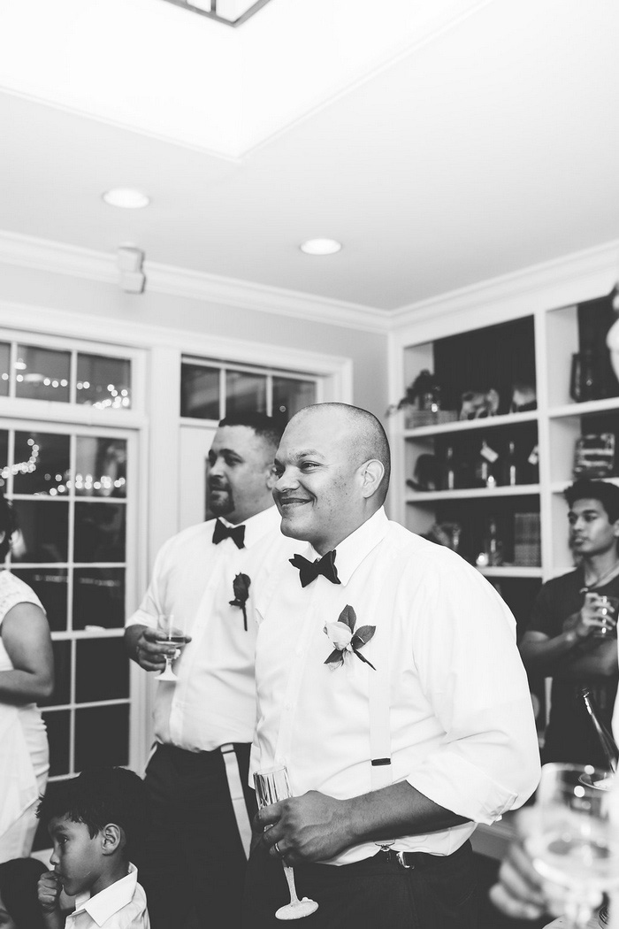 groom at reception