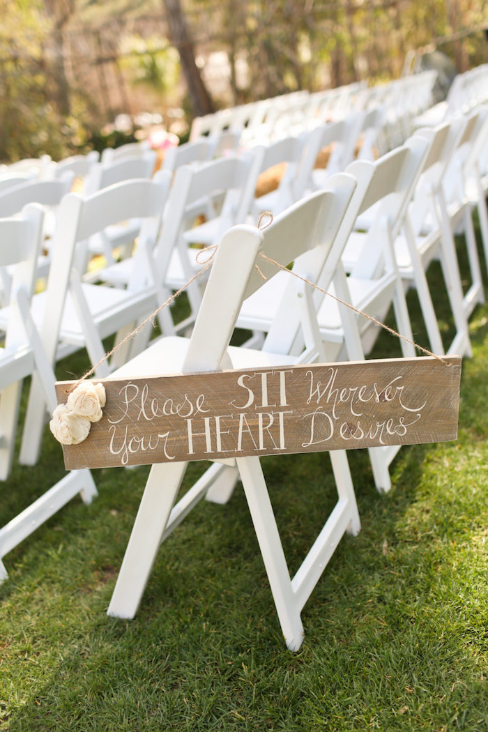 12 etsy wedding signs we love seat sign junglespirit Images