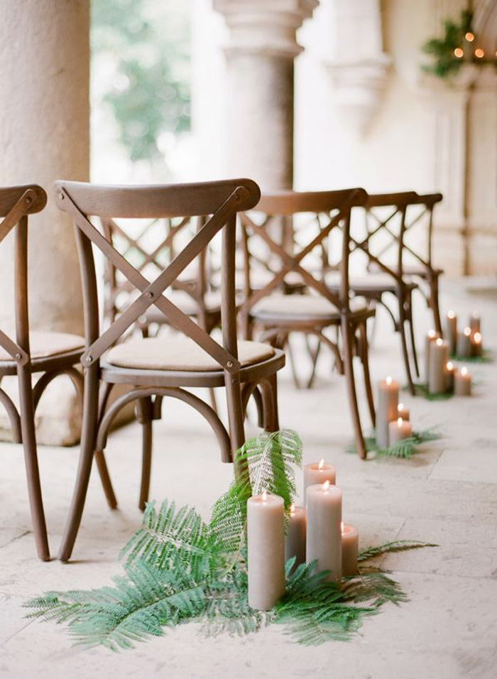 fern aisle decor
