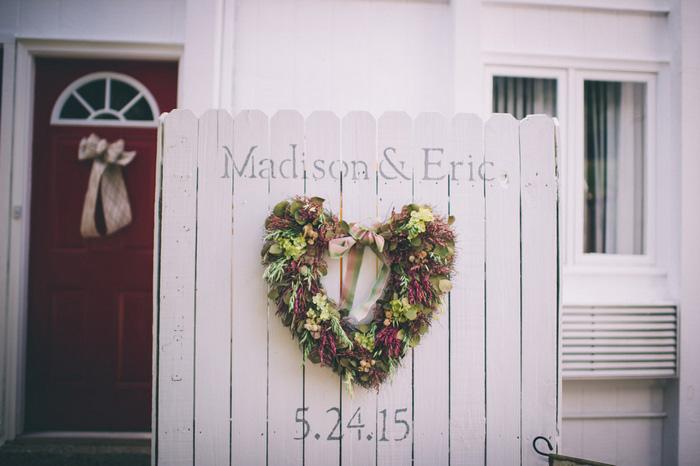 heart shaped wedding wreath