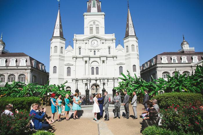wedding in Jackson Square