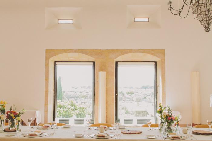 Portugal wedding reception set-up