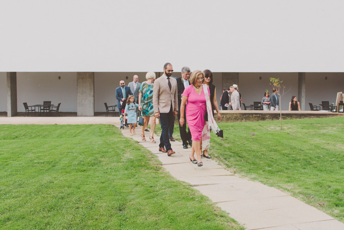 guests walking to ceremony
