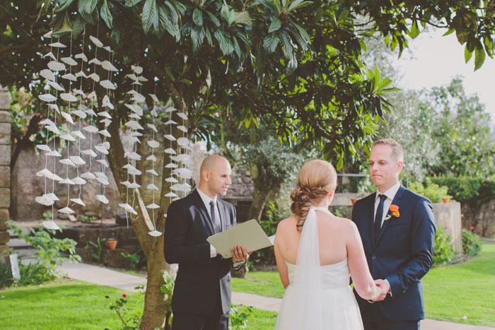 outdoor portugal wedding ceremony