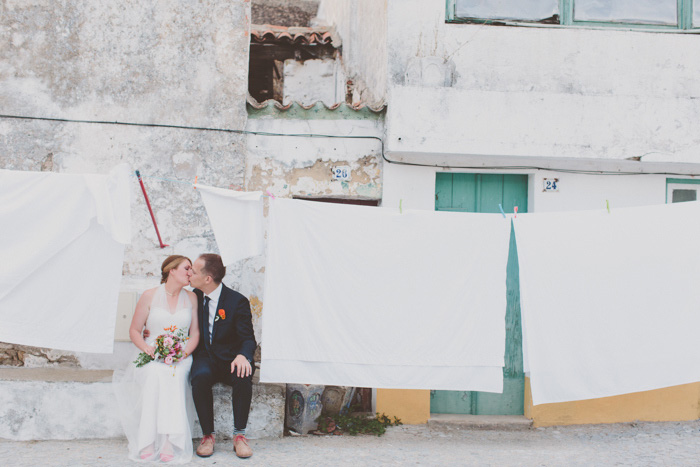 bride and groom portrait in Portugal