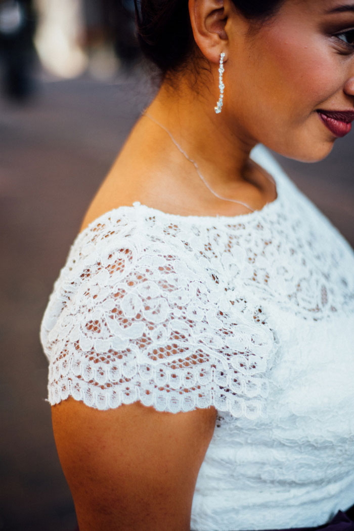 wedding dress lace sleeve detail