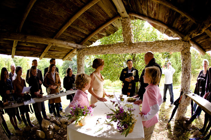 farm wedding ceremony