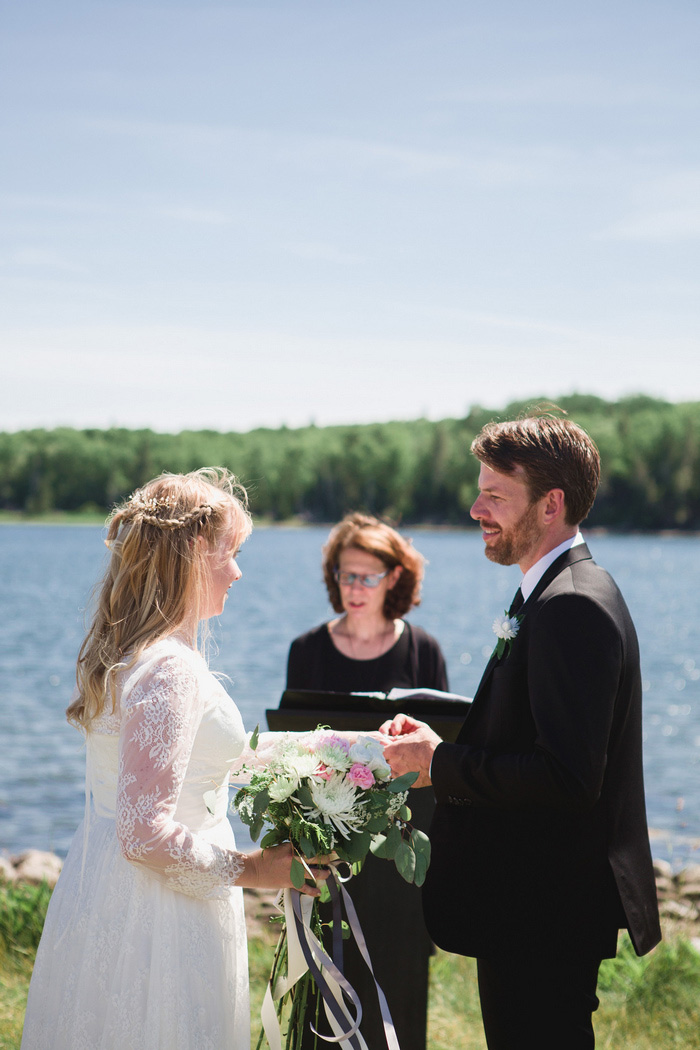 outdoor Nova Scotia wedding ceremony