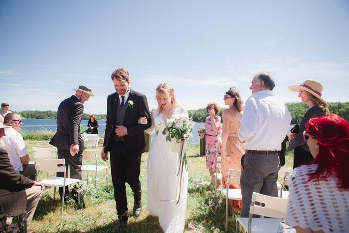 outdoor Nova Scotia wedding ceremony