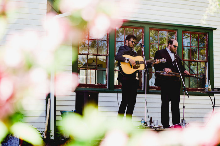 musicians at wedding reception