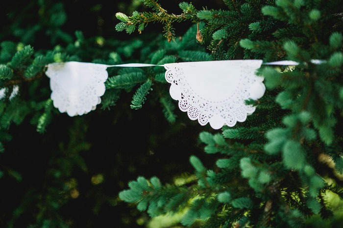 paper doily garland
