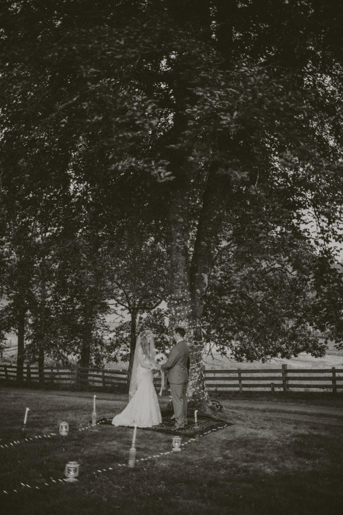 outdoor farm elopement ceremony