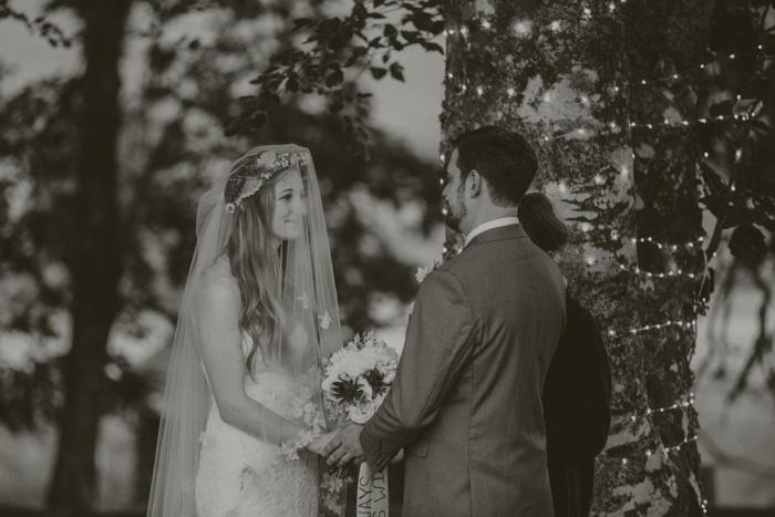 outdoor farm elopement ceremony