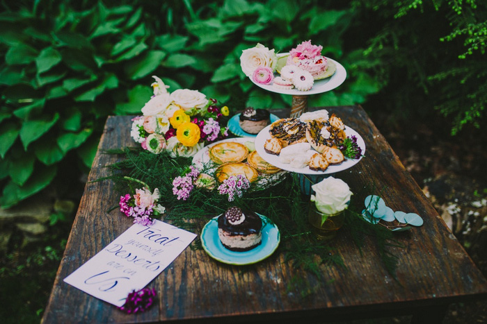 Styled shoot dessert table