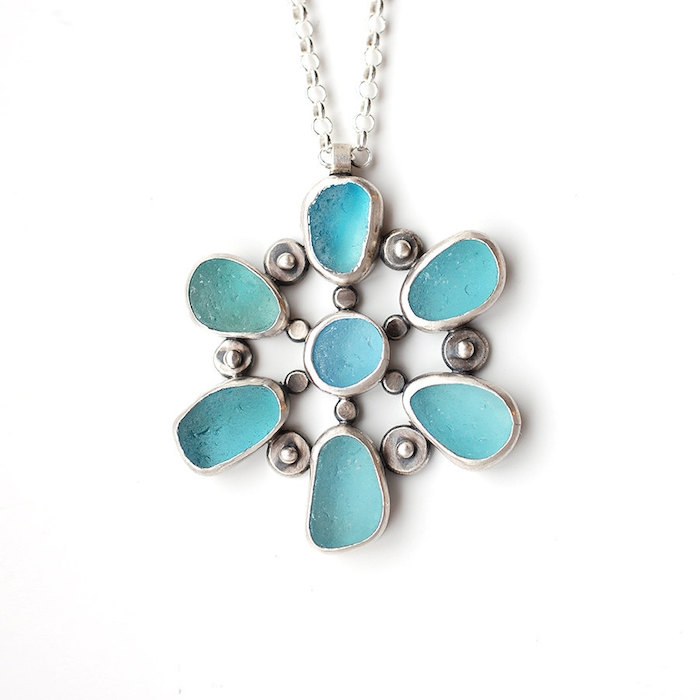 seaglass-necklace-circle