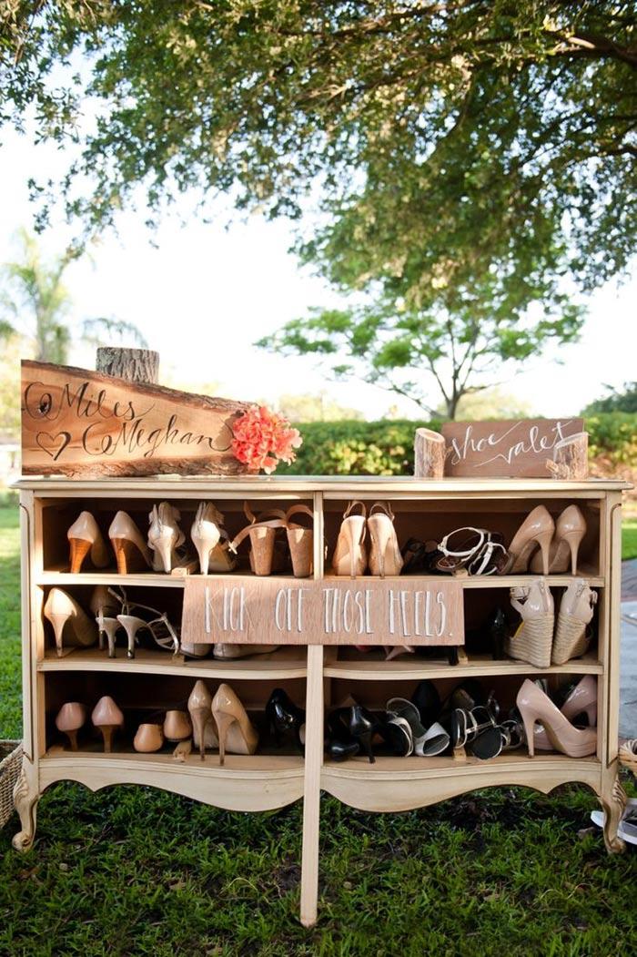 vintage dresser shoe valet