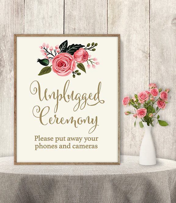 tech free wedding