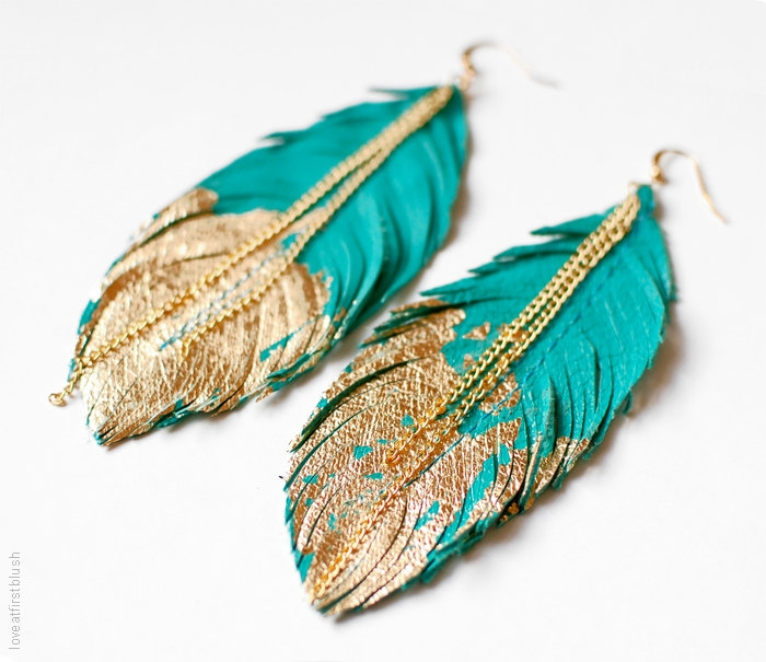 Boho-Feather-Earring