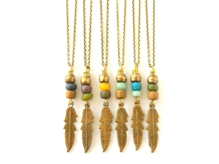 Brass-Feather-Necklace