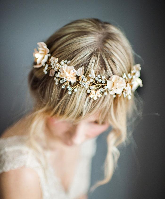 Flowers-Pearls-Headwrap