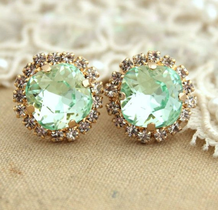 Mint-Stud-Earrings