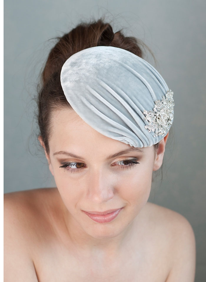 Velvet-Gray-Headpiece