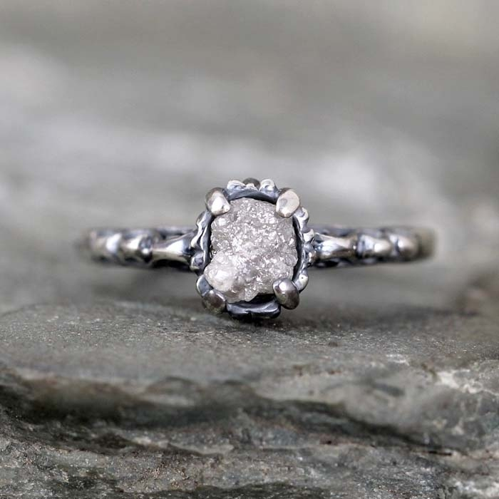 Antique-Rough-Diamond-Ring
