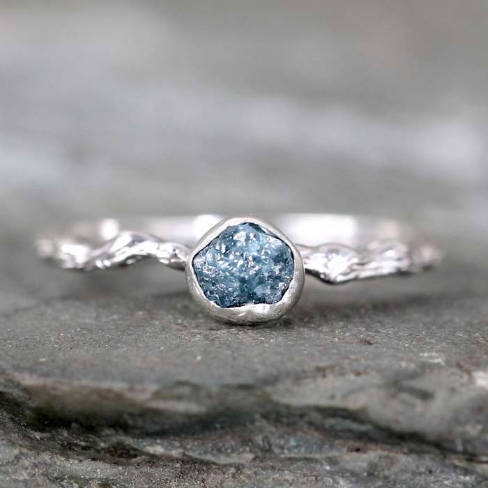 Blue-Rough-Diamond-Ring