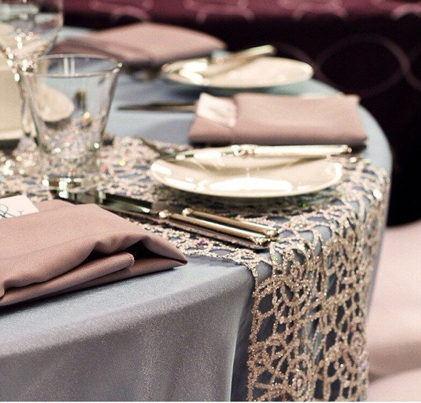 Rose Gold Is A Trendy Color, But It Is A Versatile One Too That Can Be  Simple And Understated Or Glitz Up With Sequins Like This Rose Gold Sequin  Tablecloth ...