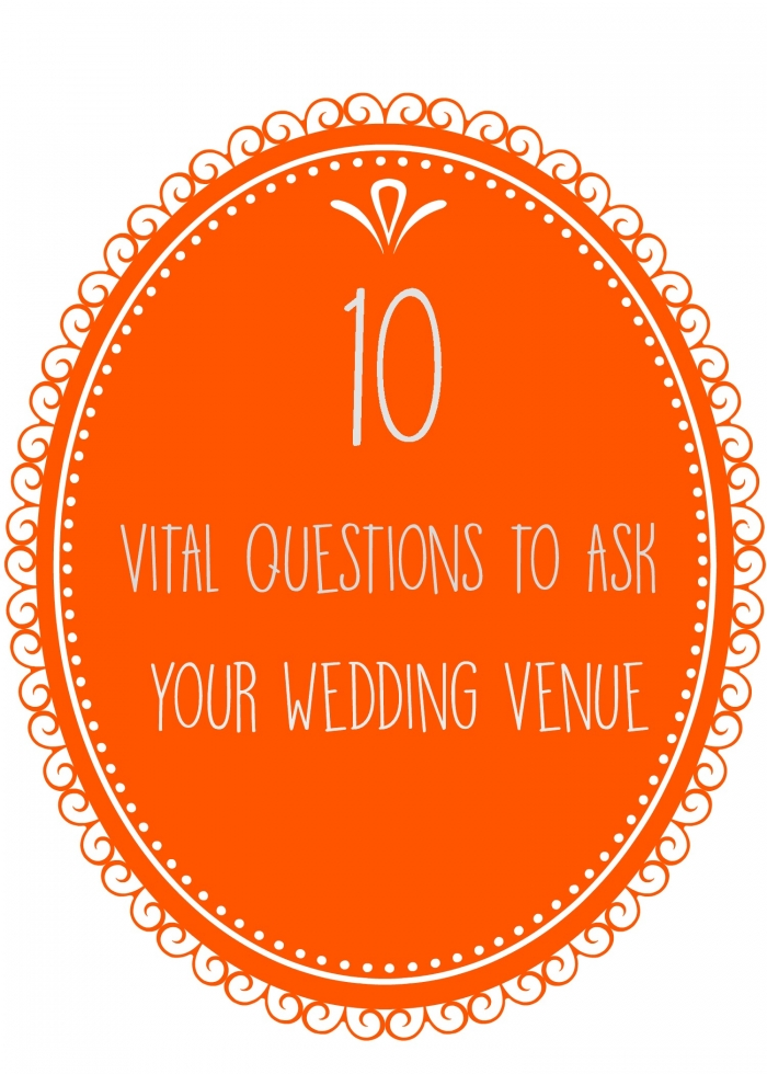 10 questions wedding venue