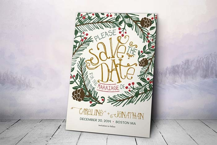 Christmas-Wedding-Save-The-Date
