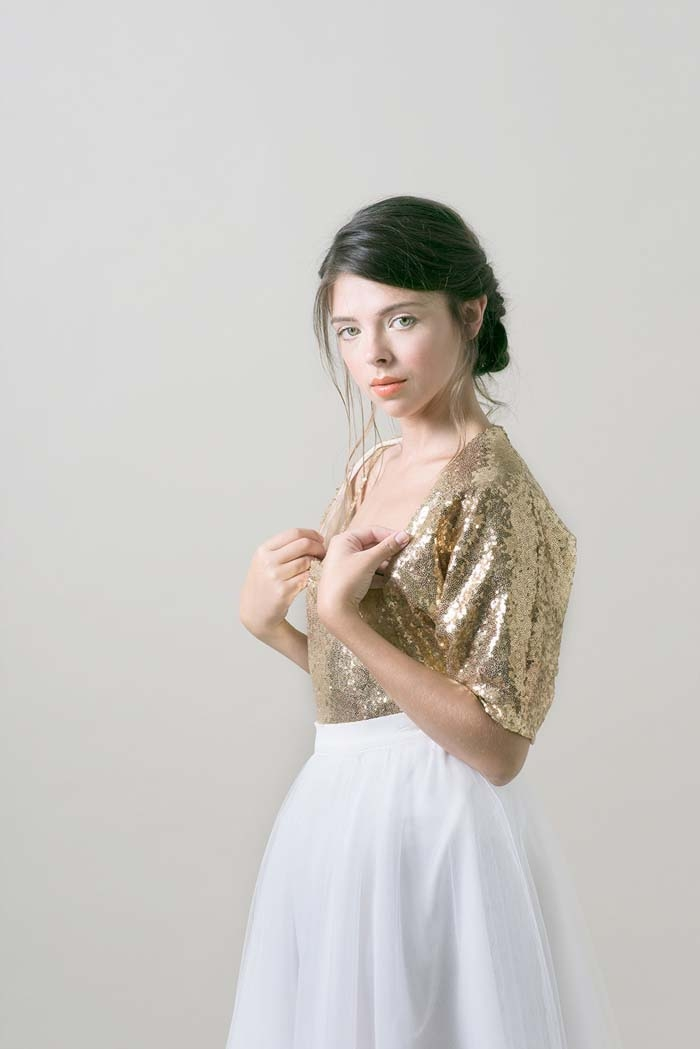 Gold-Sequin-Bolero