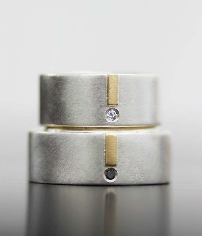 Gold-Silver-Modern-Wedding-Band