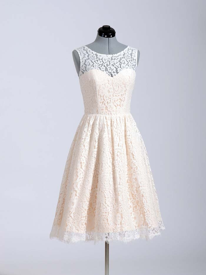 Lace-Tea-Length-Dress