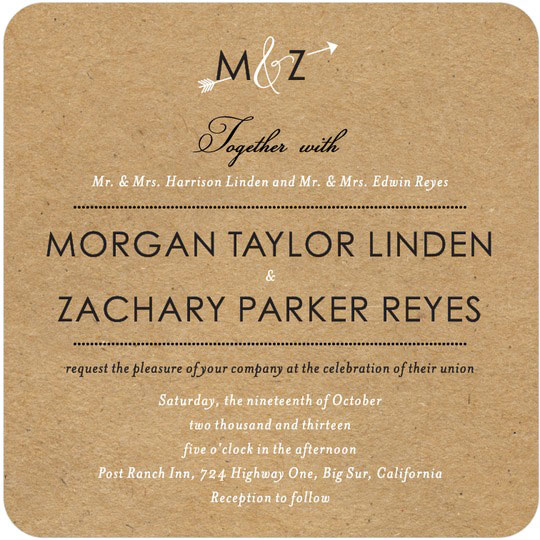 Wedding paper diva invitation