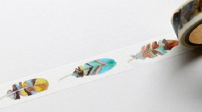 Boho-Feather-Washi-Tape