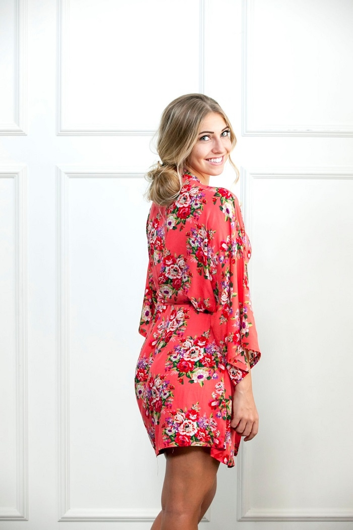 Floral-Coral-Bridesmaid-Robe