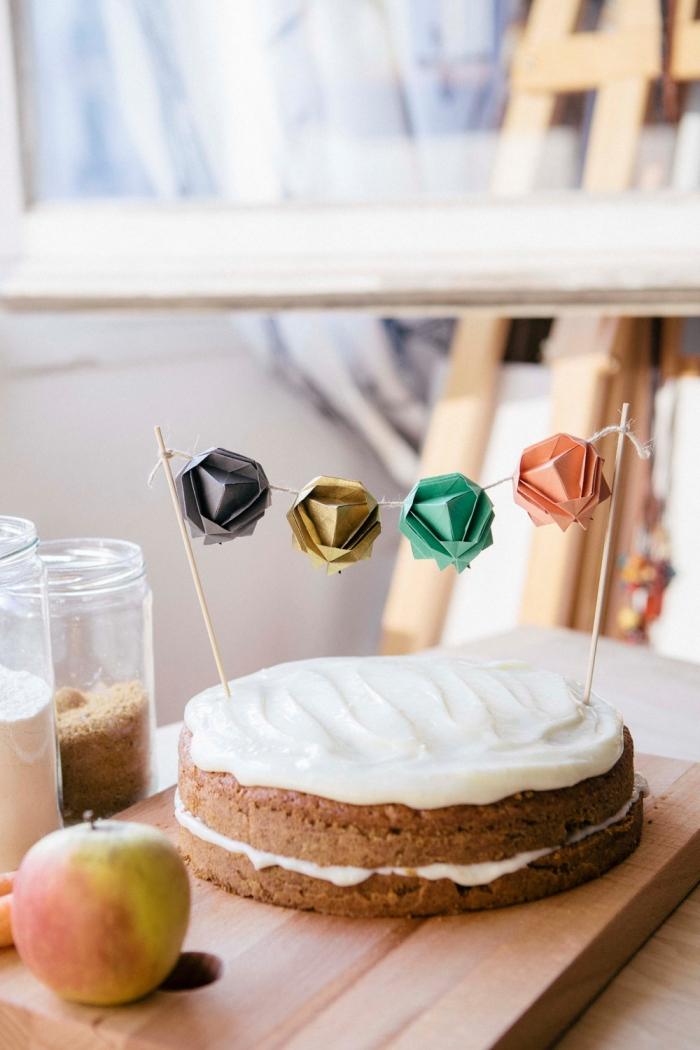 Geometric Cake Topper