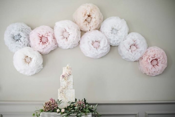 Large Tissue Flower Backdrop