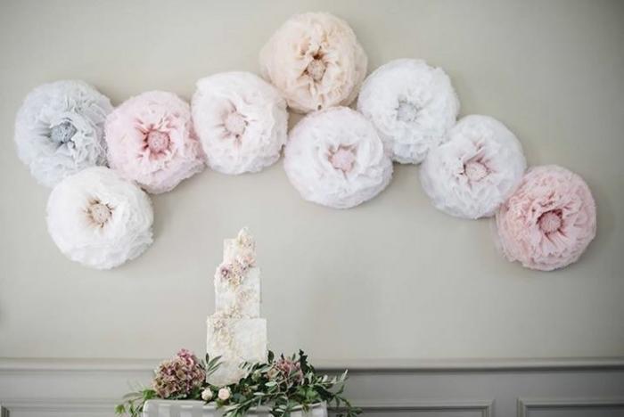 Large Tissue Flower Backdrop