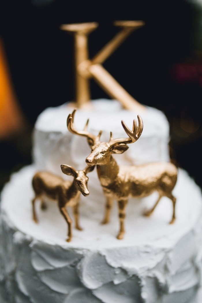 Metallic-Gold-Deer-Cake-Topper