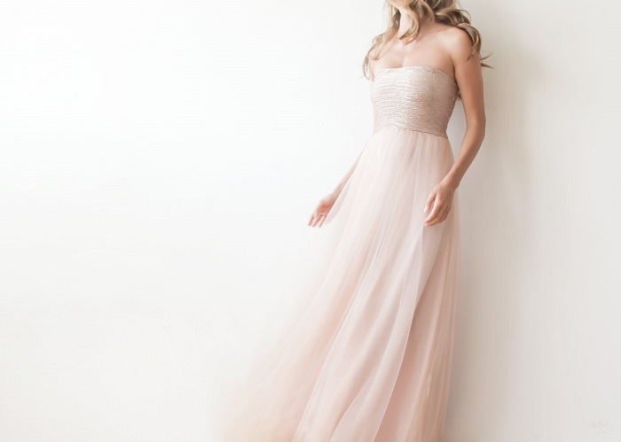 Strapless-Sequin-Bridesmaids-Dress