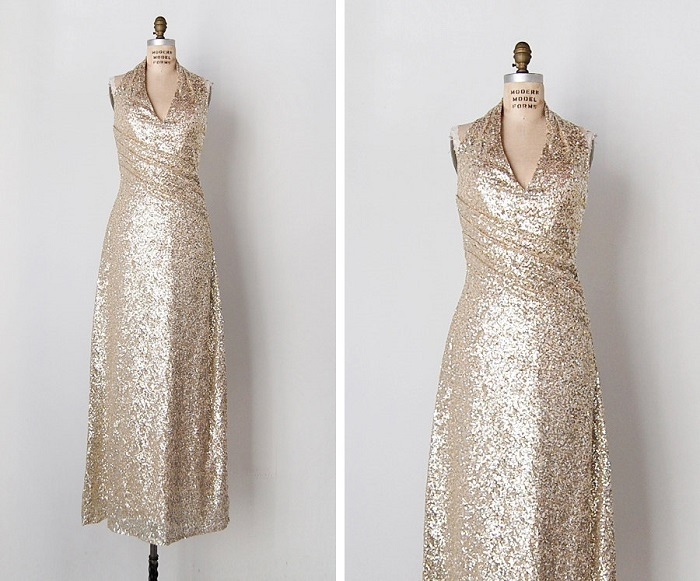Vintage-Sequin-Bridesmaids-Dress