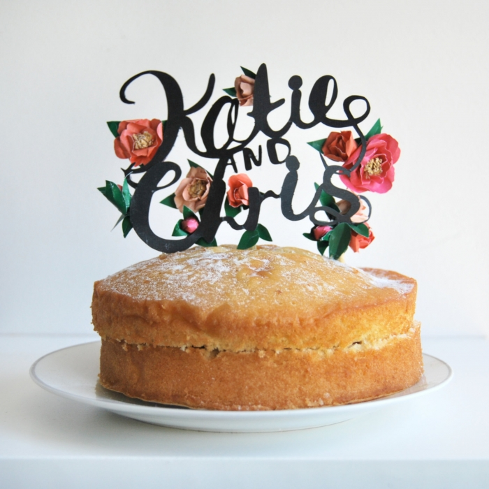 cake topper garden