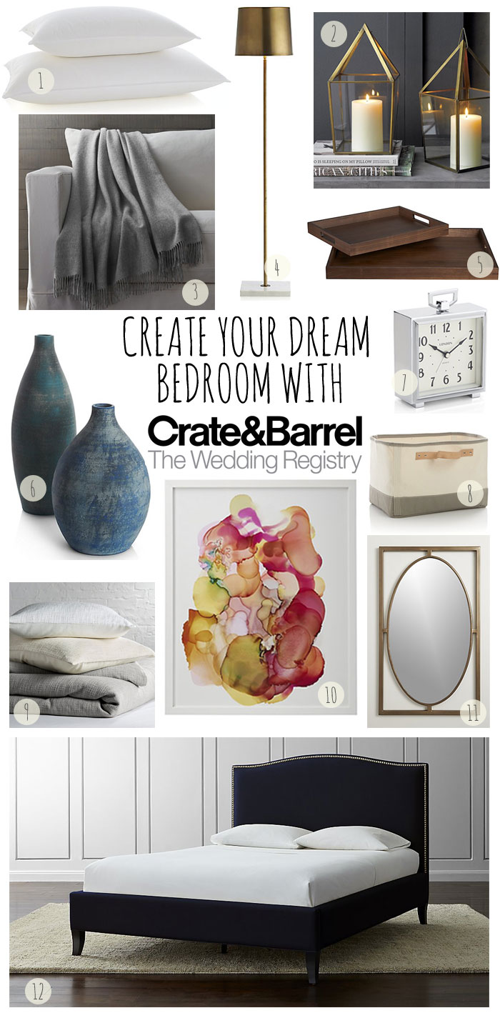 crate and barrel wedding registry