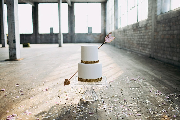 cupids arrow cake topper