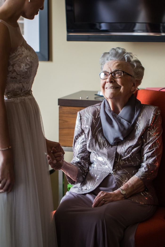 grandmother with bride