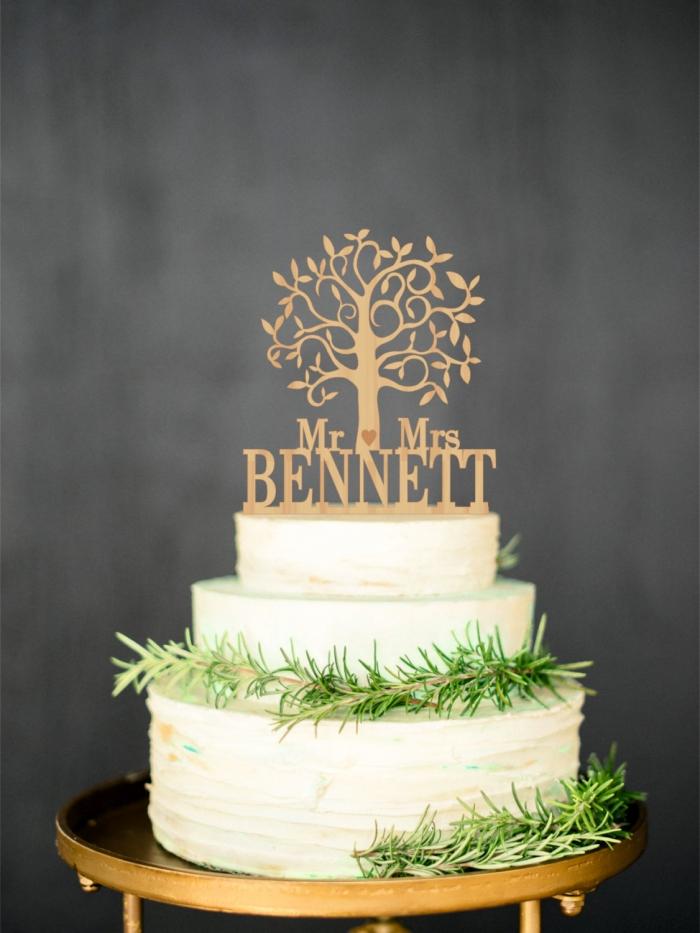 tree cake topper