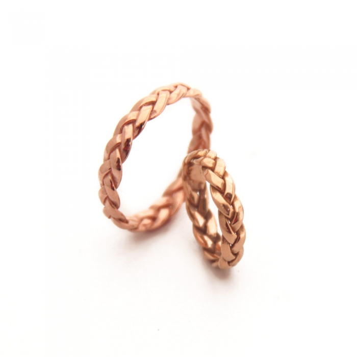 braided rose gold wedding band - Rose Gold Wedding Ring